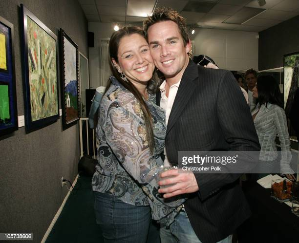Camryn Manheim and Mark McGrath during Jerry Penacoli's Debut Art Opening at Decor Art Galleries in Studio City, California, United States.