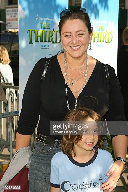 Camryn Manheim and son during Shrek The Third New York City Screening Arrivals at Clearview Chelsea West Theatre at 333 West 23rd Street in New York...