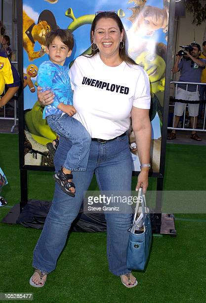 "Camryn Manheim and son Milo during ""Shrek 2"" - Los Angeles Premiere at Mann Village Theatre in Westwood, California, United States."