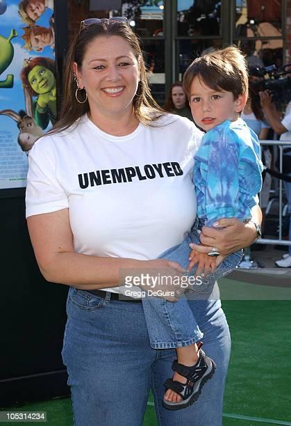 Camryn Manheim and son Milo during Shrek 2 Los Angeles Premiere at Mann Village Theatre in Westwood California United States