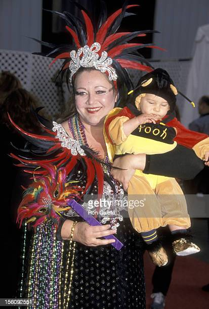 Camryn Manheim and son Milo Manheim during 8th Annual Dream Halloween to Benefit Children Affected by Aids Foundation at Santa Monica Airport in...