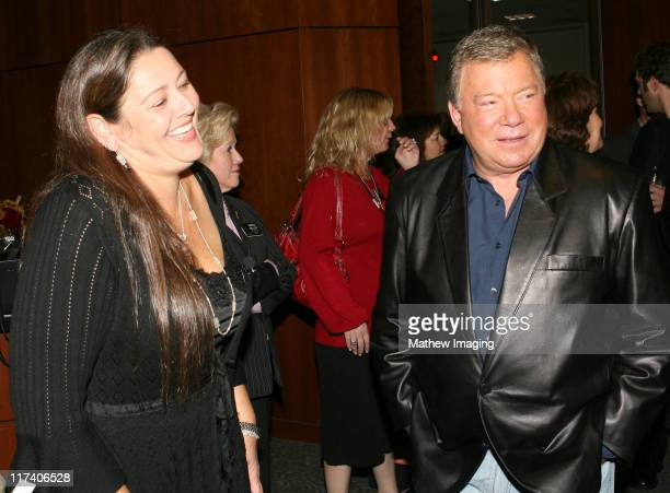 Camryn Manheim and William Shatner during Academy of Television Arts Sciences An Evening with Boston Legal at Leonard H Goldenson Theater in North...