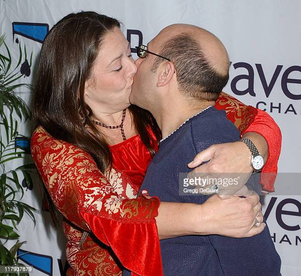 Camryn Manheim and Willie Garson during 2005 World Poker Tour Invitational Arrivals at Commerce Casino in City of Commerce California United States