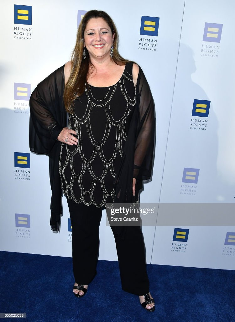 Camryn Manheim arrives at the Human Rights Campaign's 2017 Los Angeles Gala Dinner at JW Marriott Los Angeles at L.A. LIVE on March 18, 2017 in Los Angeles, California.