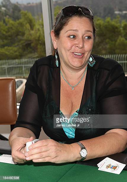 Camryn Manheim attends the AFTRA Foundation's Inaugural Frank Nelson Fund Celebrity Poker Party at Mulholland Tennis Club on October 20 2012 in Los...