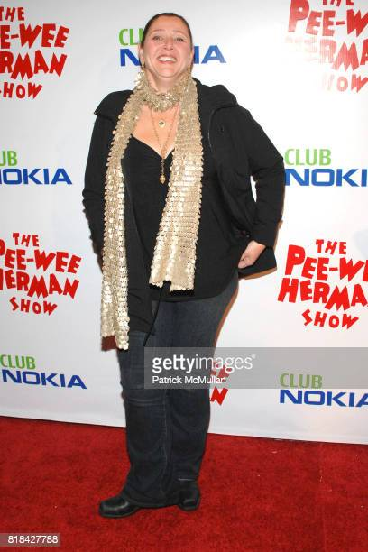 Camryn Manheim attends The Pee Wee Herman Show Opening Night at Club Nokia on January 20 2010 in Los Angeles California
