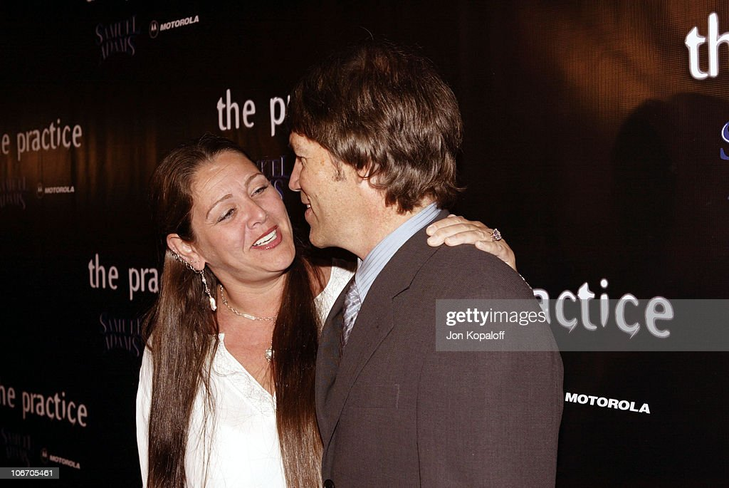 Camryn Manheim & David E. Kelley during David E. Kelley and the cast of ABC's hit drama, 'The Practice,' celebrate the launch of their eighth season at The Buffalo Club in Santa Monica, California, United States.
