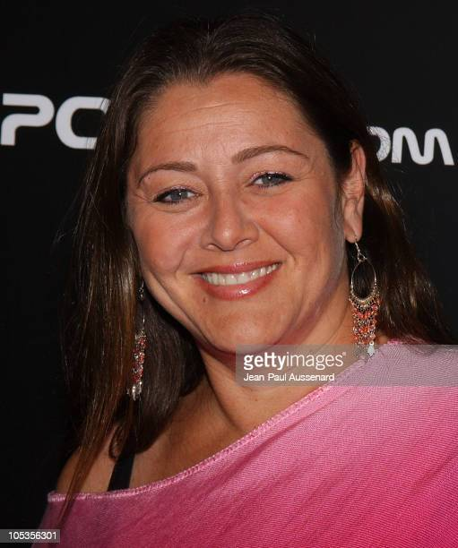 Camryn Manheim during BosPoker.com 2004 Celebrity Poker Tournament - Arrivals at Private residence in Beverly Hills, California, United States.
