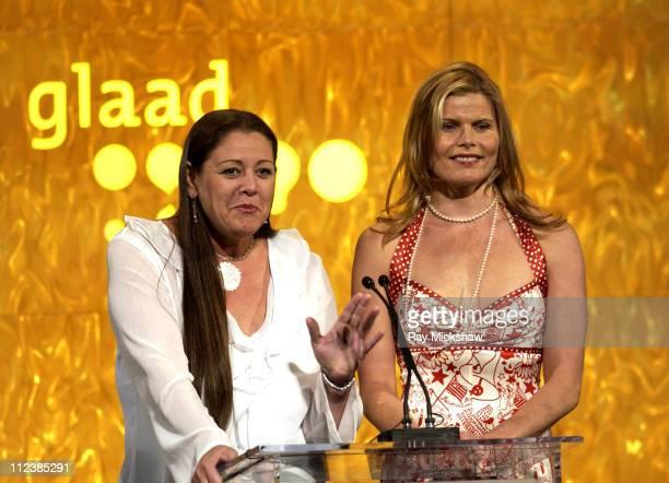 Camryn Manheim & Mariel Hemingway during The 14th Annual GLADD Media Awards-Show at Kodak Theater in Hollywood, California, United States.