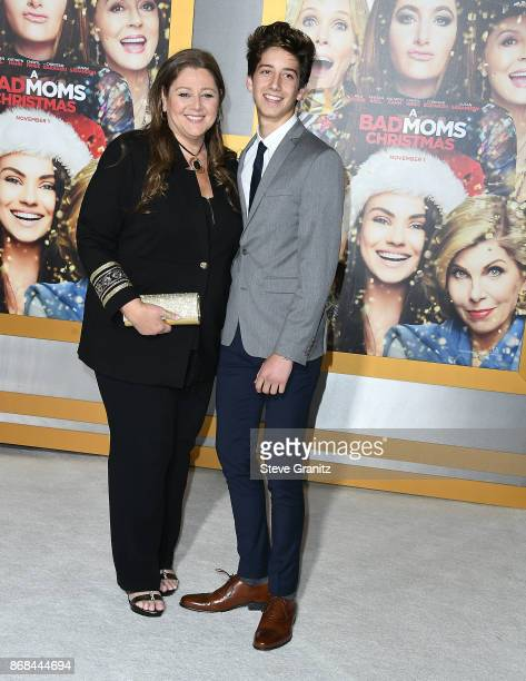 Camryn Manheim Milo Manheim arrives at the Premiere Of STX Entertainment's 'A Bad Moms Christmas' at Regency Village Theatre on October 30 2017 in...