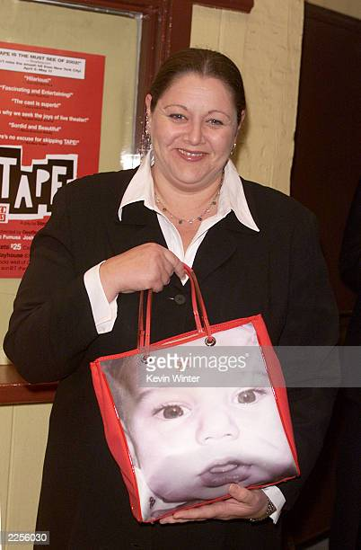 Camryn Manheim with a photo of her son Milo at the Los Angeles premiere of Tape Thursday April 11 at the Coast Playhouse Photo by Kevin...