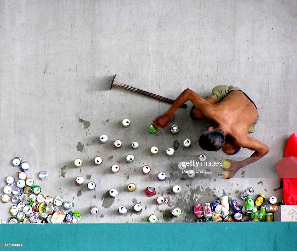 Can Crusher : Stock Photo