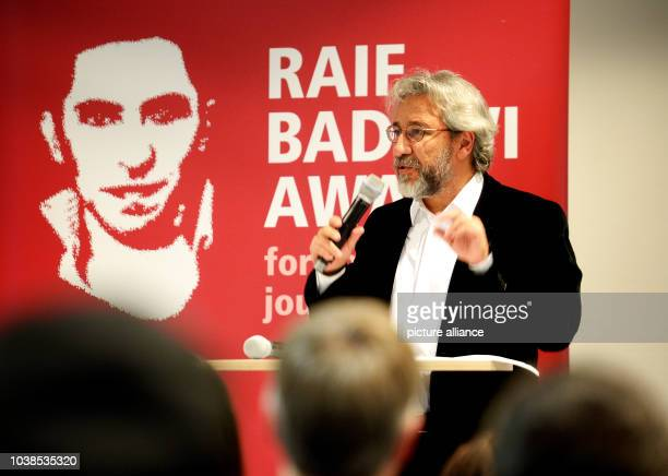 Can Dundar former editorinchief of the Turkish newspaper Cumhuriyet and Turkish government critic delivers a speech during the 2016 Raif Badawi...