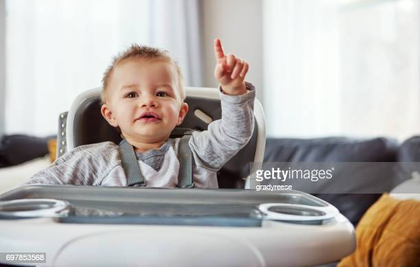 can i get some service around here - baby pointing stock photos and pictures