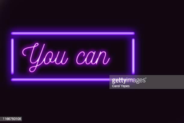 i can message in neon lights - text schriftsymbol stock-fotos und bilder