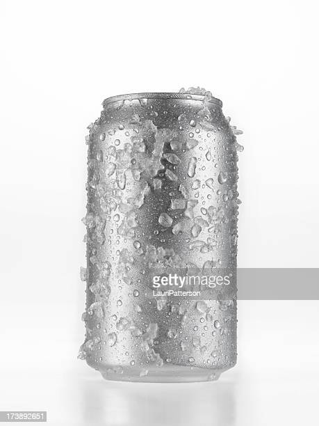 can of beer covered in ice - tin can stock pictures, royalty-free photos & images