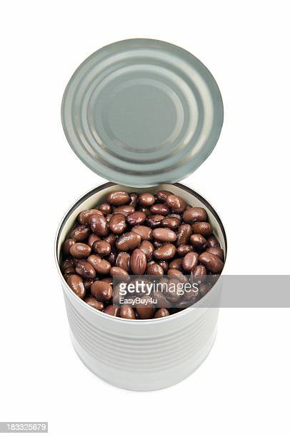 can of black beans - bean stock pictures, royalty-free photos & images