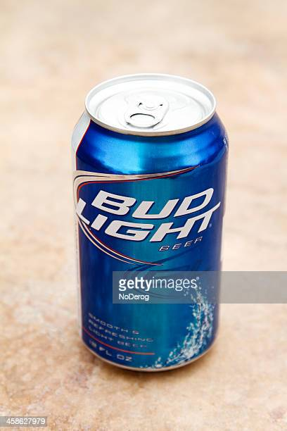 can of bud light beer - bud light stock pictures, royalty-free photos & images
