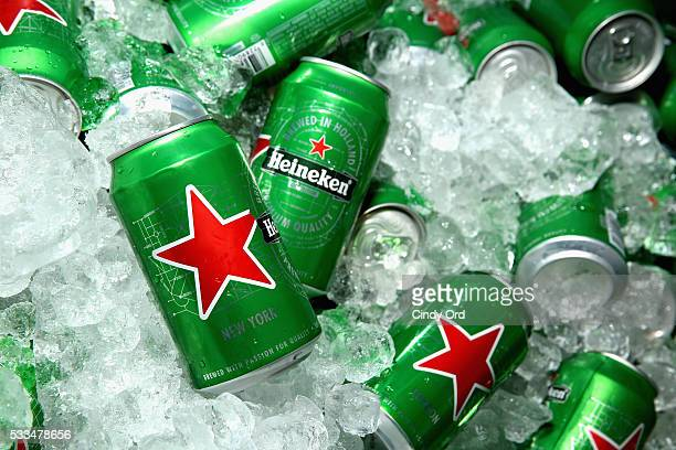 Can of Heineken beer at the 2016 Vulture Festival at Milk Studios on May 22 2016 in New York City