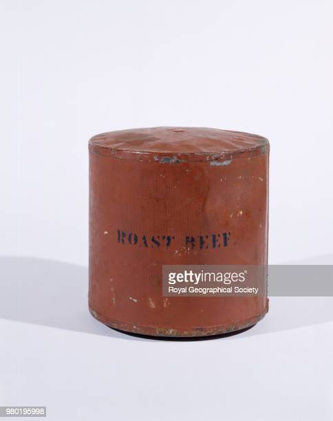Can of roast beef left in Canada by HMS Resolute in 1853 It was found in 1958 by Dr ET Tozer it weighs 235 kg Canada 1853
