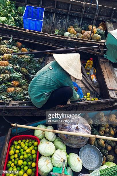 Can Tho, Mekong Delta, Southern Vietnam. Phong Dien floating market.