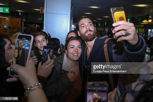 Can Yaman is seen on November 26, 2019 in Madrid, Spain.