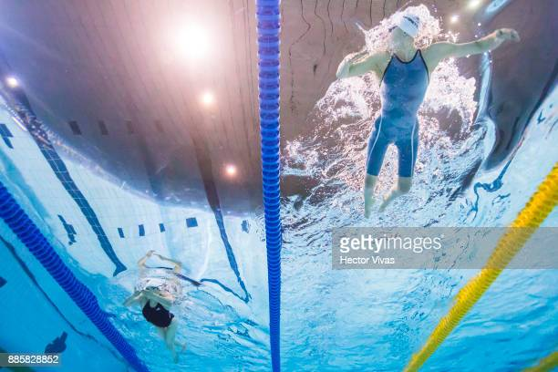 Can Yao of China and Giulia Ghiretti of Italy compete in women´s 100 m Breaststroke SB4 during day 1 of the Para Swimming World Championship Mexico...
