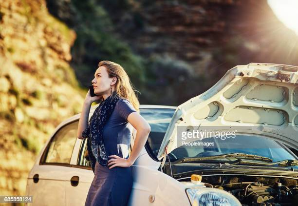 can you come tow my car away? - stranded stock photos and pictures