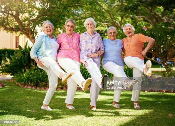 can you do the can-can?! - active senior stock photos and pictures