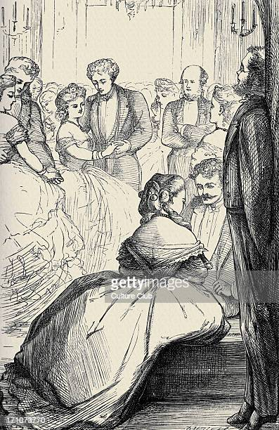'Can you forgive her' 'Can you forgive her' Vol II by Anthony Trollope First published in 1864 and 1865 Caption reads 'Mr Bott on the watch' AT...
