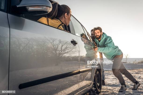 can you please push my car? - broken down car stock pictures, royalty-free photos & images