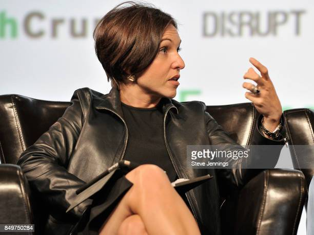 Canaan Partners General Partner Nina Kjellson speaks onstage during TechCrunch Disrupt SF 2017 at Pier 48 on September 19 2017 in San Francisco...