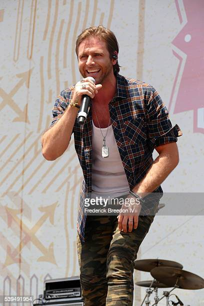 Canaan Smith performs during the CMA Fest on the Chevrolet River Stage on June 11 2016 in Nashville Tennessee