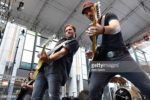 Canaan Smith performs on the Music City Gives Back Concert at Downtown Nashville on June 7 2016 in Nashville Tennessee
