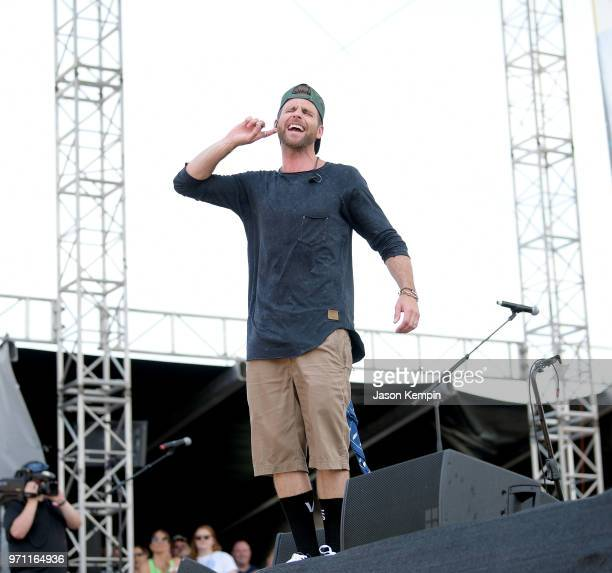 Canaan Smith performs onstage during the 2018 CMA Music festival at the Chevy Riverfront Stage on June 10 2018 in Nashville Tennessee