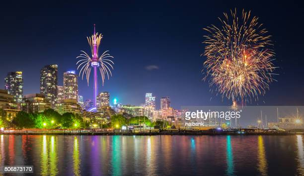 Canada 150th day fireworks in Toronto