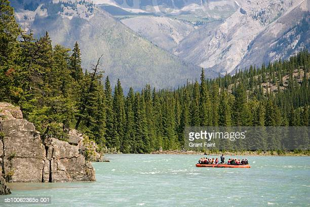 Canada, Alberta, Banff, bow river rafting group