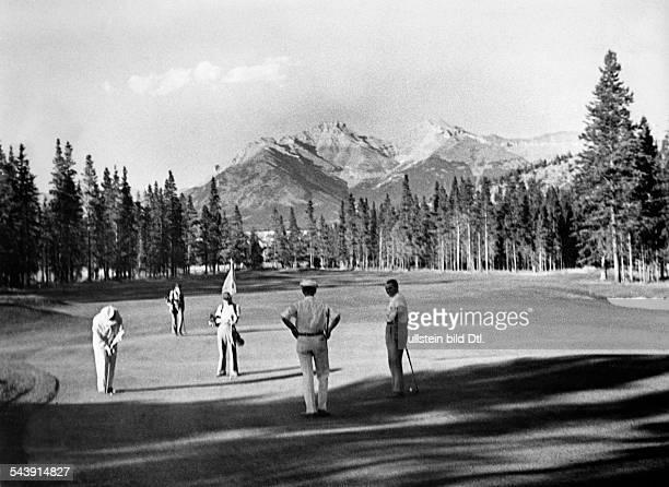Canada Alberta Banff Golf course Photographer Felix H Man ca 1933Vintage property of ullstein bild