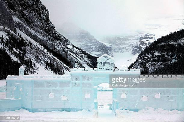 Canada, Alberta, Banff National Park, Lake Louise, Facade of an ice castle