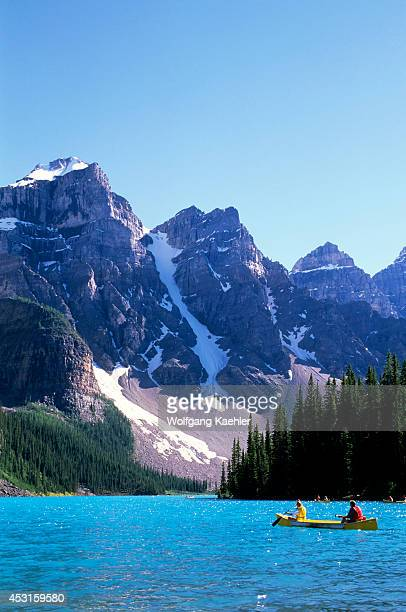 Canada Alberta Banff National Park Moraine Lake Canoe