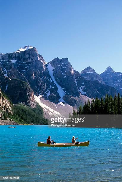Canada Alberta Banff National Park Moraine Lake Canoes