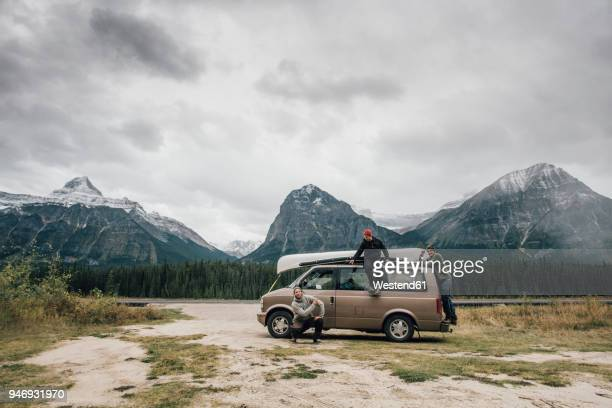 canada, alberta, banff national park, rocky mountains, icefields parkway - mini van stock photos and pictures