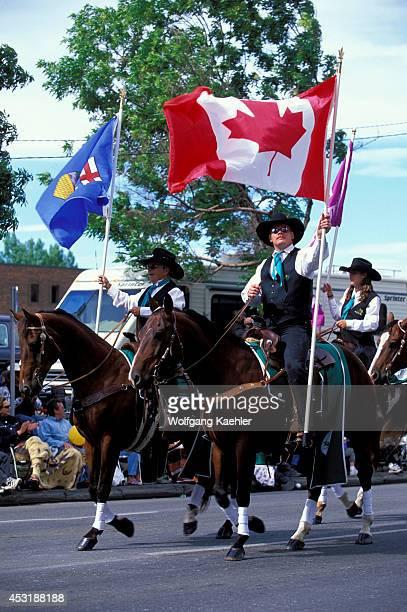 Canada Alberta Calgary Calgary Stampede Parade Horseback Riders