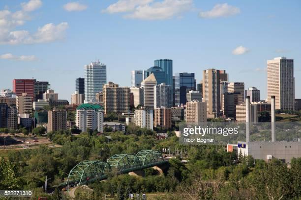 canada, alberta, edmonton, downtown skyline - edmonton stock pictures, royalty-free photos & images
