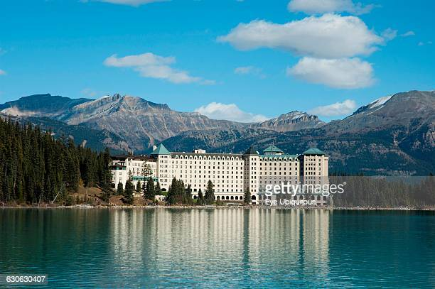 Canada Alberta Fairmont Chateau Lake Louise with Lake Louise in foreground