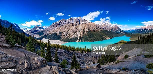 Canada, Alberta, Glacial, Rockies, Icefield Parkway, Peyto Lake, Banff National Park