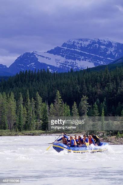 Canada Alberta Jasper National Park Athabasca River People Rafting