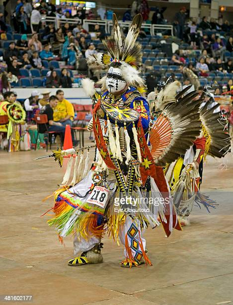 Canada Alberta Lethbridge International Peace Pow Wow Cree Indian from Onion Lake Alberta Canada in the Prairie Chicken Dance competition originated...