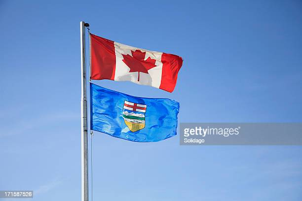 Canada And Alberta Flags