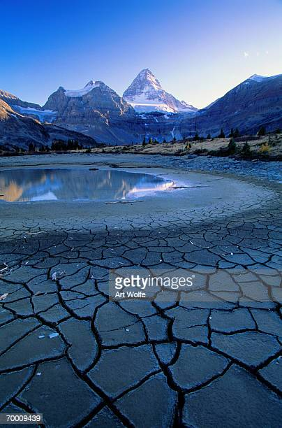 canada, bc, mt. assiniboine provincial park, dried lake - lake bed stock pictures, royalty-free photos & images